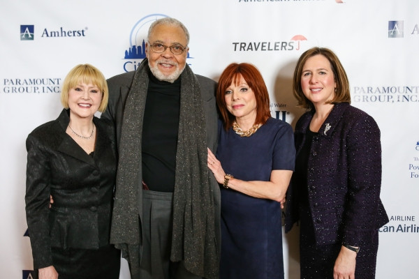 Cecilia Hart; James Earl Jones, Patricia Wexler, M.D., acclaimed dermatologist, Citymeals-on-Wheels Board Member and event honoree; Beth Shapiro, Executive Director of Citymeals-on-Wheels
