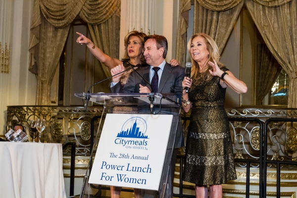 Hoda Kotb, Citymeals-on-Wheels 28th Annual ''Power Lunch for Women'' emcee; Co-President of the Citymeals-on-Wheels Board of Directors Chef Daniel Boulud; Kathie Lee Gifford, Citymeals-on-Wheels 28th Annual ''Power Lunch for Women'' emcee