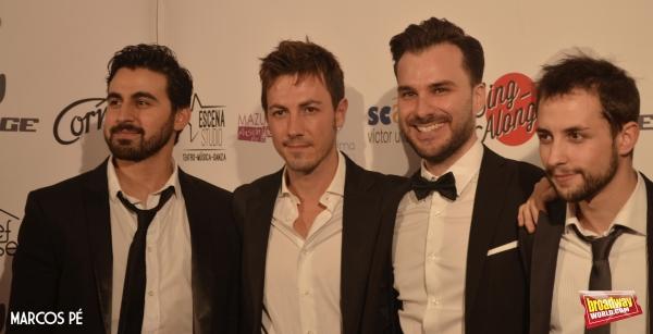 Felipe Forastiere, Daniel Busquier, Gonzalo Alcain y Alberto Frias