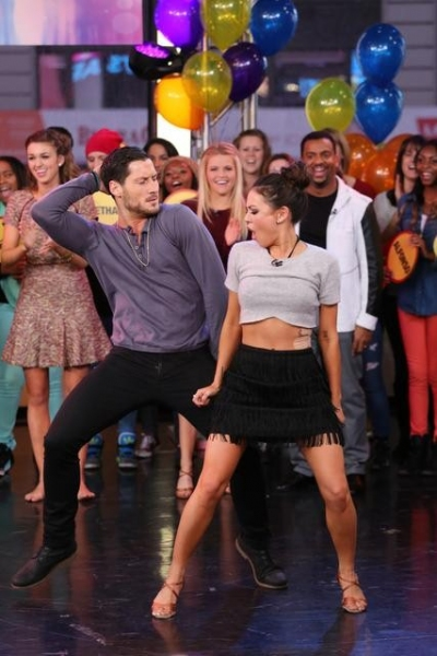 GOOD MORNING AMERICA - The finalists and winners of this season''s ''Dancing With The Stars'' join the After Party at GOOD MORNING AMERICA, 11/26/14, airing on the ABC Television Network.   (ABC/Fred Lee)  VAL CHMERKOVSKIYV, JANEL PARISH