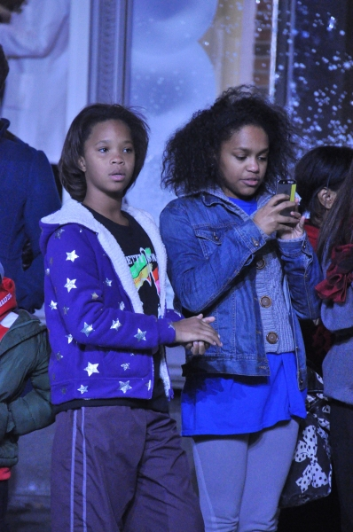 Quvenzhane Wallis watching The Rockettes rehearse