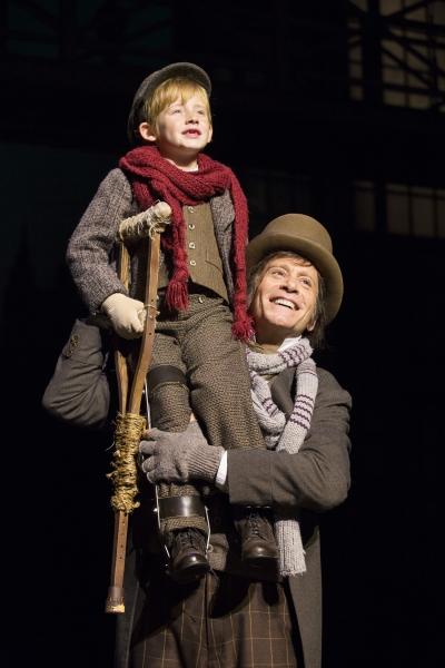 Harrison Wright (Tiny Tim) and Bobby Smith (Bob Cratchit) Photo