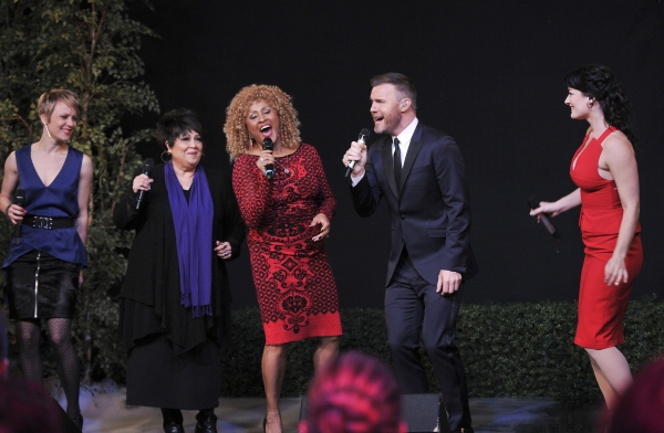 Jo Lawry, Tata Vega, Darlene Love, Gary Barlow and Laura Michelle Kelly