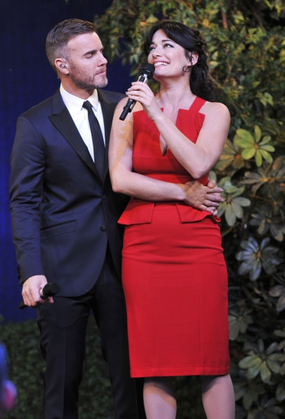 Gary Barlow and Laura Michelle Kelly