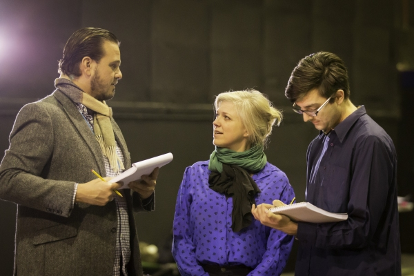 Assistant directors Nic Greenshields and Geoffrey Williams with Caroline Harker (cent Photo