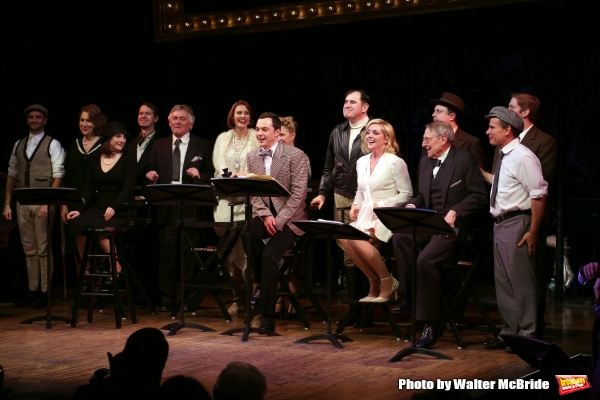 Nick Mills, Randy Graff, TraceeChimo, David Turner, Daniel Davis, Rachel York, Jim Parsons, Debra Jo Rupp, Richard Kind, Jane Krakowski, John Cullum, Brooks Ashmanskas, Peter Scolari and Rory O'Malley during the Curtain Call for the One-Night Only