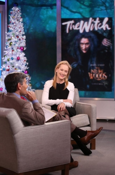 GOOD MORNING AMERICA - Meryl Streep is a guest on ''Good Morning America,'' 12/2/14, airing on the ABC Television Network. (ABC/Fred Lee)GEORGE STEPHANOPOULOS, MERYL STREEP