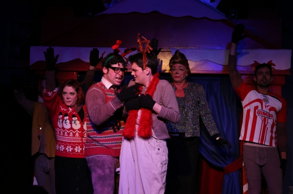 Rudolph (Grant Drager) learns a musical lesson the hard way in Hell in a Handbag''s R Photo