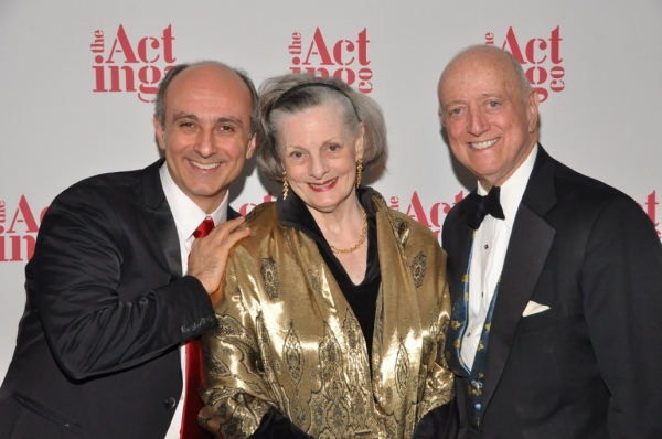 The Acting Company Alumnus, Stephen DeRosa with The Acting Company Board member Dana Ivey and Chairman of the board, Earl Weiner at The Acting COmpany's annual gala