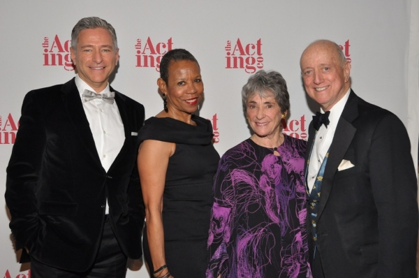 ( L-R)Honorees Vin Cipolla, recipient of the Joan Warburg Humanitarian Award and Dr. Mary Schmidt Campbell recipient of the John Houseman Award pose with The Acting Company co-founder, Margot Harley and Board Chairman of The Acting Company, Earl Weiner at