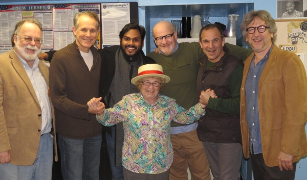 Mark St. Germain, Jim Walton, Rohan Kymal, Wally Dunn, Donald Corren, John Markus -- center Dr. Ruth Westheimer