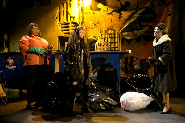 Dumpster Diving: Liz Mikel as Sister Ro, Olivia Thirlby as Romi,  Nancy Linehan Charles as Mrs. M.