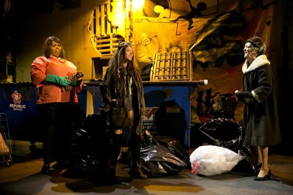 Dumpster Diving: Liz Mikel as Sister Ro, Olivia Thirlby as Romi,  Nancy Linehan Charles as Mrs. M.