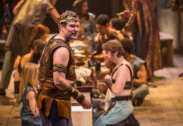 Pericles (Ben Carlson) is celebrated for feats of bravery by the court of Pentapolis