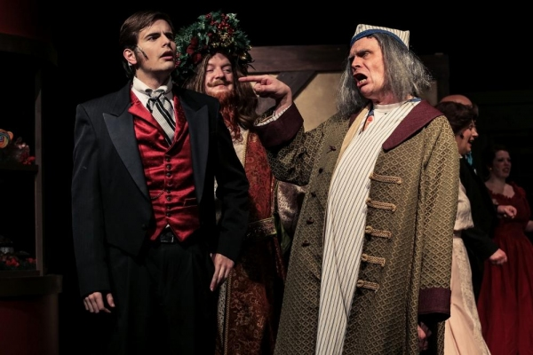 Ben Fisher (Harry), Chris Serface (The Ghost of Christmas Present), Jeff Kingsbury (Scrooge)