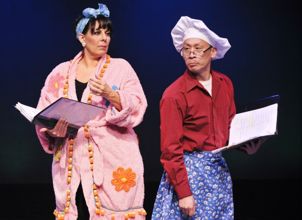 Christine Pedi as Belle May Steinberg Carroca and Francis Jue as Rookie Carroca