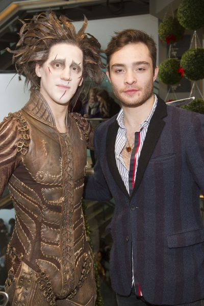 Dominic North (Edward Scissorhands) and Ed Westwick  Photo