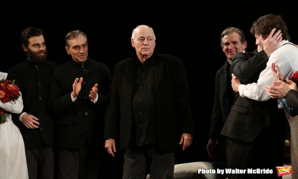 Chris Bannow, Scott Lowell, Playwright Bernard Pomerance,  Anthony Heald, Director Sc Photo