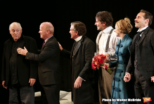 Playwright Bernard Pomerance, Director Scott Ellis, Anthony Heald, Bradley Cooper, Patricia Clarkson and Alessandro Nivola