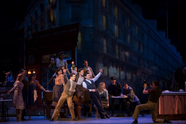 Robert Fairchild, Brandon Uranowicz, Max von Essen and Cast of AN AMERICAN IN PARIS