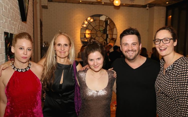 High Res Cast members Sarah Shaefer, Wendy vanden Heuvel, Playwright Charlotte Miller, Director Daniel Talbott and Addie Johnson-Talbott
