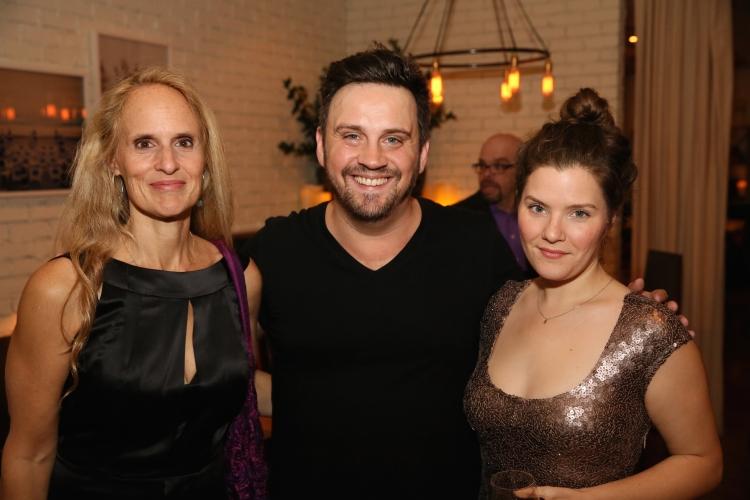 High Res Cast member Wendy vanden Heuvel, Director Daniel Talbott and Playwright Charlotte Miller