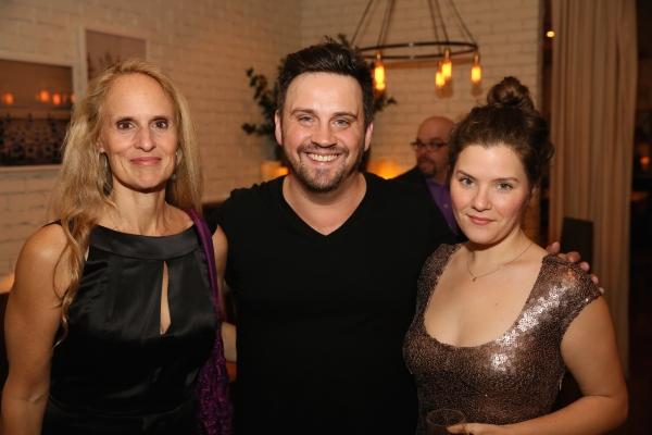 Cast member Wendy vanden Heuvel, Director Daniel Talbott and Playwright Charlotte Mil Photo