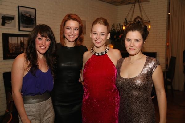 Cast members Samantha Soule, Jelena Stupljanin, Sarah Shaefer and Playwright Charlotte Miller