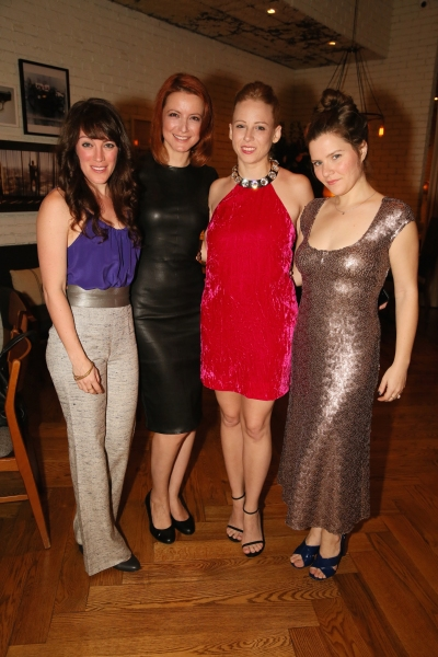 Cast members Samantha Soule, Jelena Stupljanin, Sarah Shaefer and Playwright Charlotte Miller