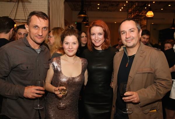 Actor Zoran Radanovich, Playwright Charlotte Miller, actress Jelena Stupljanin and Iv Photo