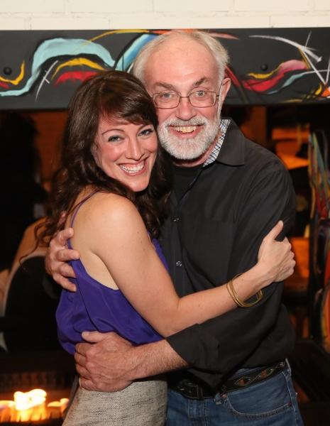 Cast member Samantha Soule and David Van Asselt, Rattlestick Artistic Director