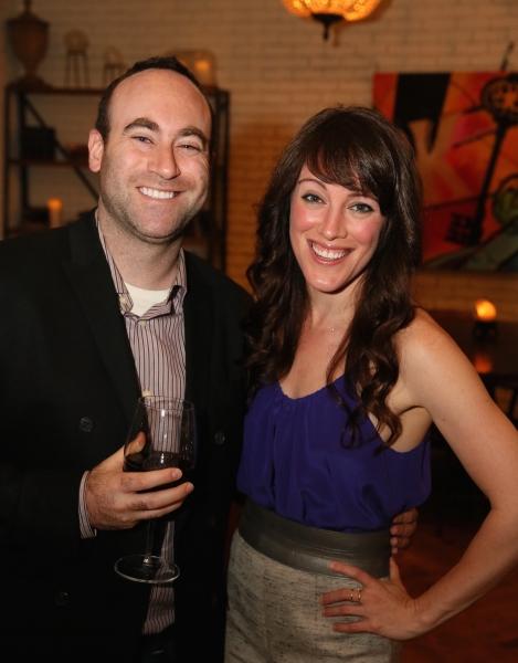 Doug Strassler and cast member Samantha Soule Photo