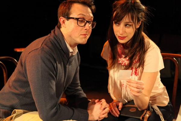 Patrick Martin and Emily Berman in POSTCARDS FROM PARIS by Diana Lawrence