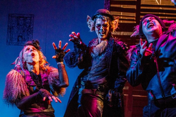 Amanda Morrow as Quite Scary Rat, Justin Tuazon Martin as Really Quite Scary Rat, and Photo