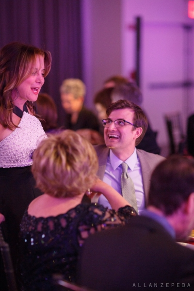 Gala Co-Chair Margie Loeb shares a happy moment with Sing for Hope Chief Operating Officer Brian Neff.