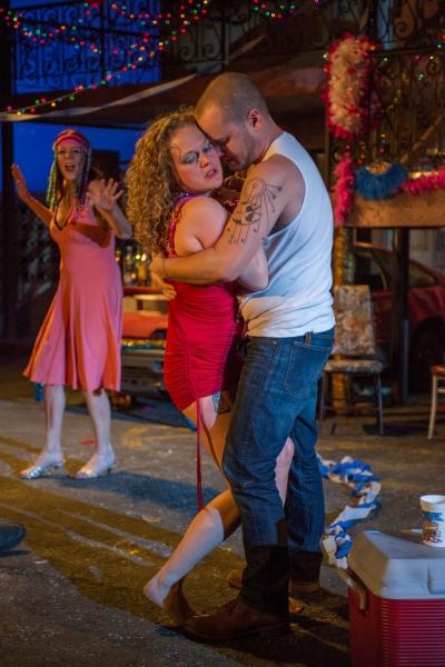 Kate Buddeke (Tanya), Caroline Neff (Krista) and Stephen Louis Grush (Bait Boy)