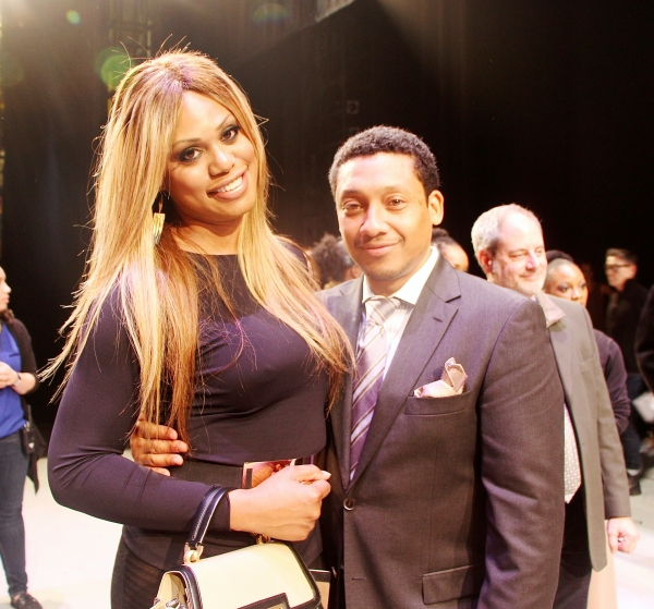 Actress Laverne Cox and actor Khalil Kain