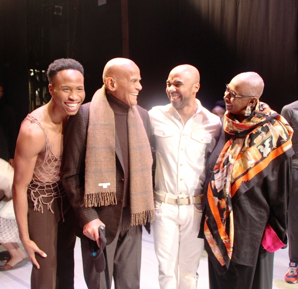 Jeroboam Bozeman, Harry Belafonte, Matthew Rushing and Judith Jamison Photo