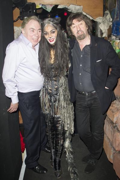 Andrew Lloyd Webber (Music), Nicole Scherzinger (Grizabella) and Trevor Nunn (Director)