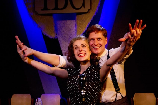Gerard McCarthy (George Bailey) and Sophie Scott (Mary) Photo Anton Hewins