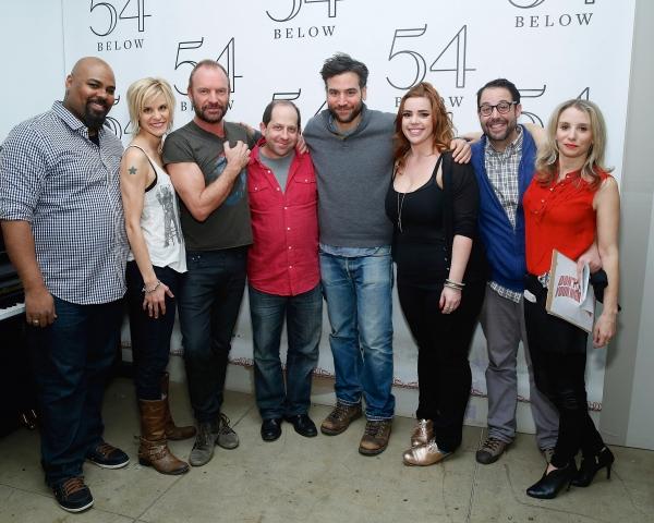 James Monroe Iglehart, Jenn Colella, Sting, Jason Kravits, Josh Radnor, Alysha Umphress, Steve Rosen and Sarah Saltzberg