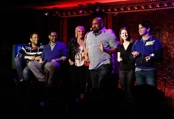 David Rossmer, Steve Rosen, Jenn Colella, James Monroe Iglehart, Kate Wetherhead and Alex Brightman