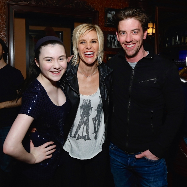 Lilla Crawford, Jenn Colella and Christian Borle