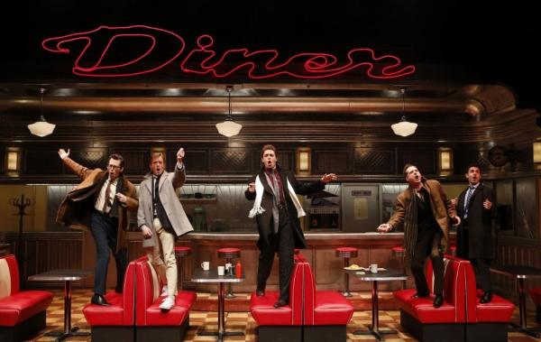 Josh Grisetti (Shrevie), Matthew James Thomas (Fenwick), Derek Klena (Boogie), Bryan Fenkart (Modell), and Adam Kantor (Eddie)