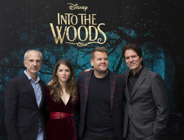 John DeLuca, Anna Kendrick, James Corden and Rob Marshall