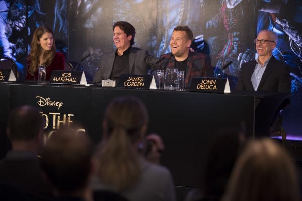 Anna Kendrick, Rob Marshall, James Corden and John DeLuca