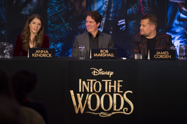 Anna Kendrick, Rob Marshall and James Corden