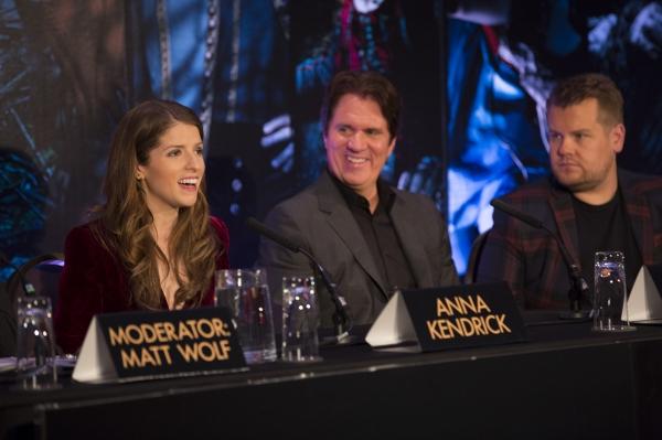 Anna Kendrick, Rob Marshall and James Corden