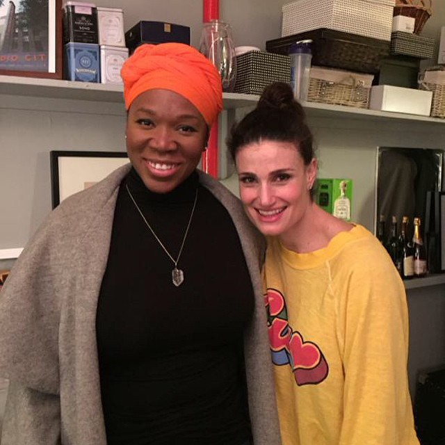 Idina Menzel Gets A Visit From India Arie Backstage At IF/THEN