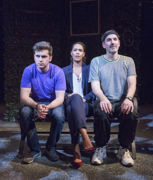 """Alex Kramer, Zoey Martinson, and Erik Lochtefeld in �""""He Ate the Sun"""" by Sheila Callaghan directed by Michael Orsinski"""